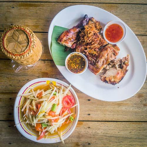 try local dishes in a food travel
