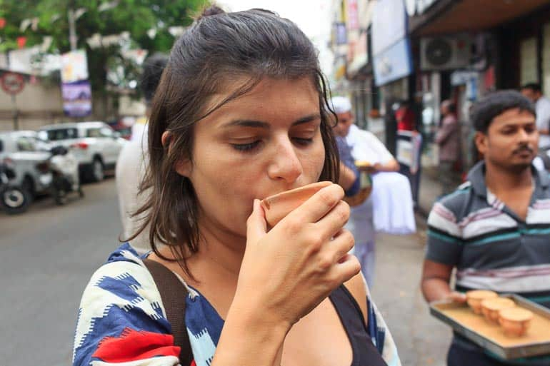 drinking the masala chai in India