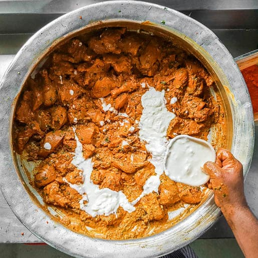 biryani marinate with curd yoghurt