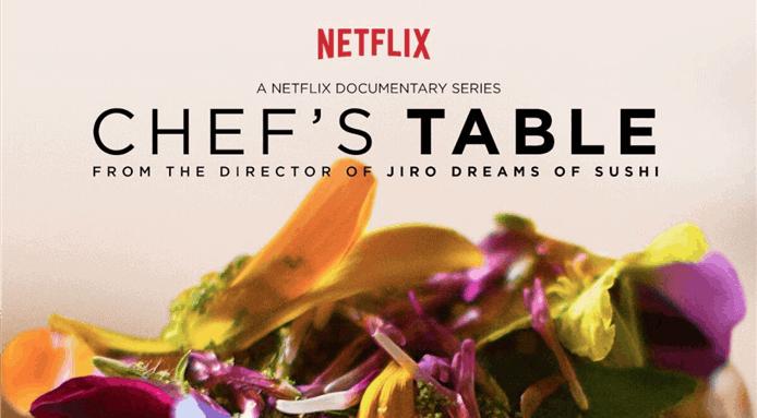capa da mesa do chef, uma série sobre comida na Netflix