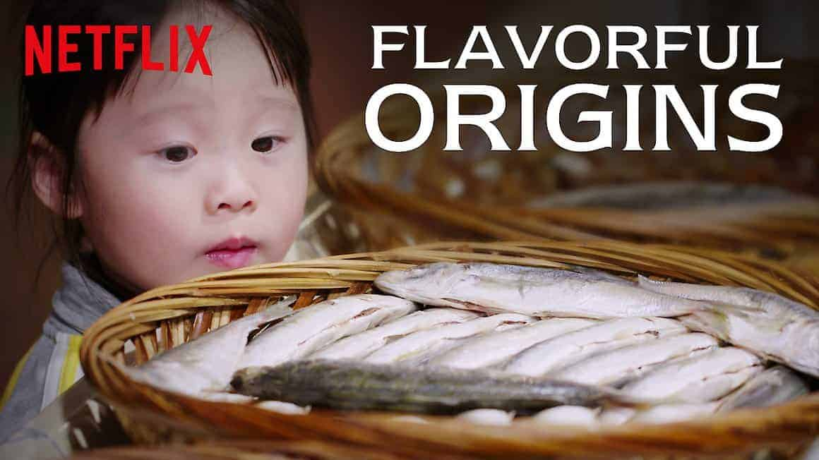 cover of flavorful origins, a food series on netflix