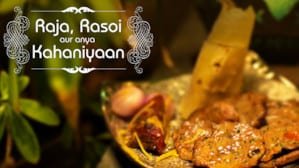 cover of raja rasoi, a series about food