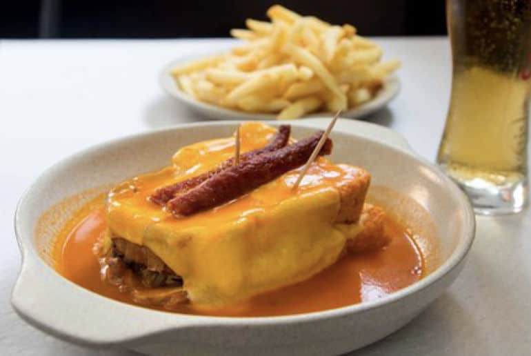 Eating Francesinha at Bufete Fase, Porto
