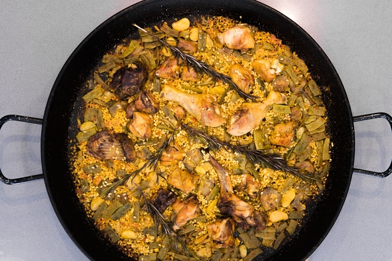 the authentic paella valenciana