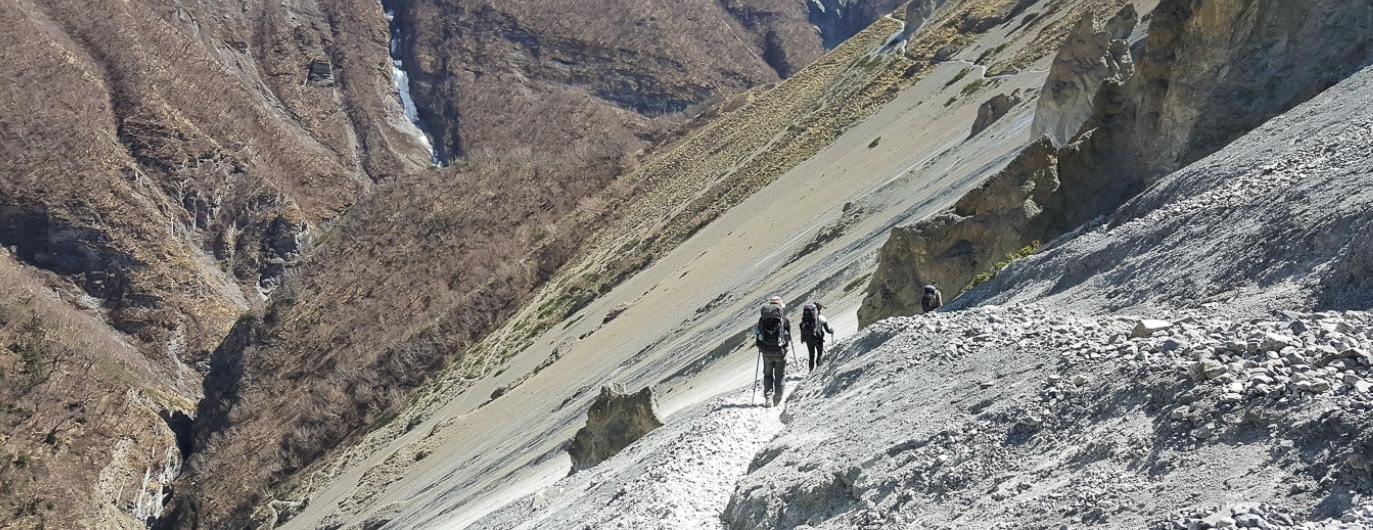 Annapurna trail in Nepal requires travel insurance