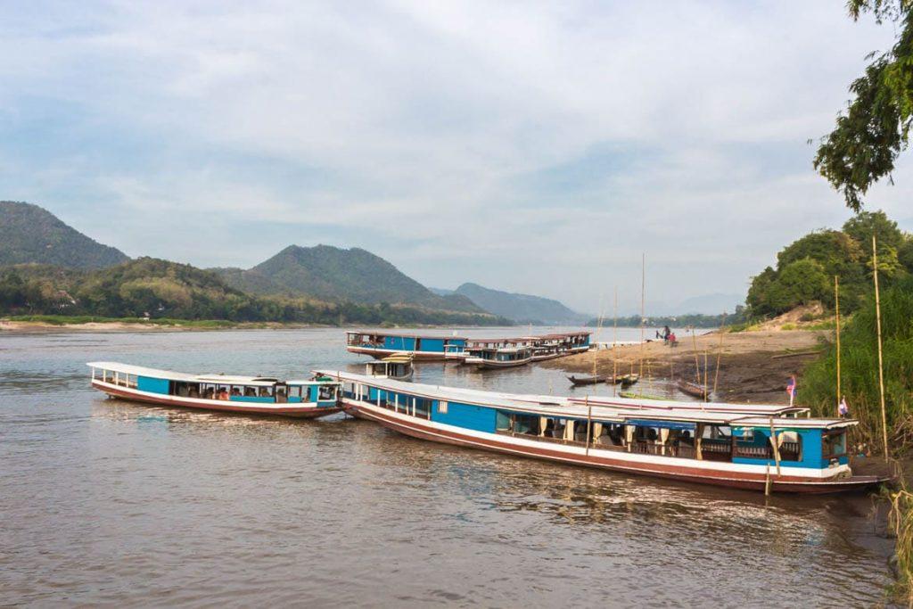 O Rio Mekong - Paisagem característica de Laos