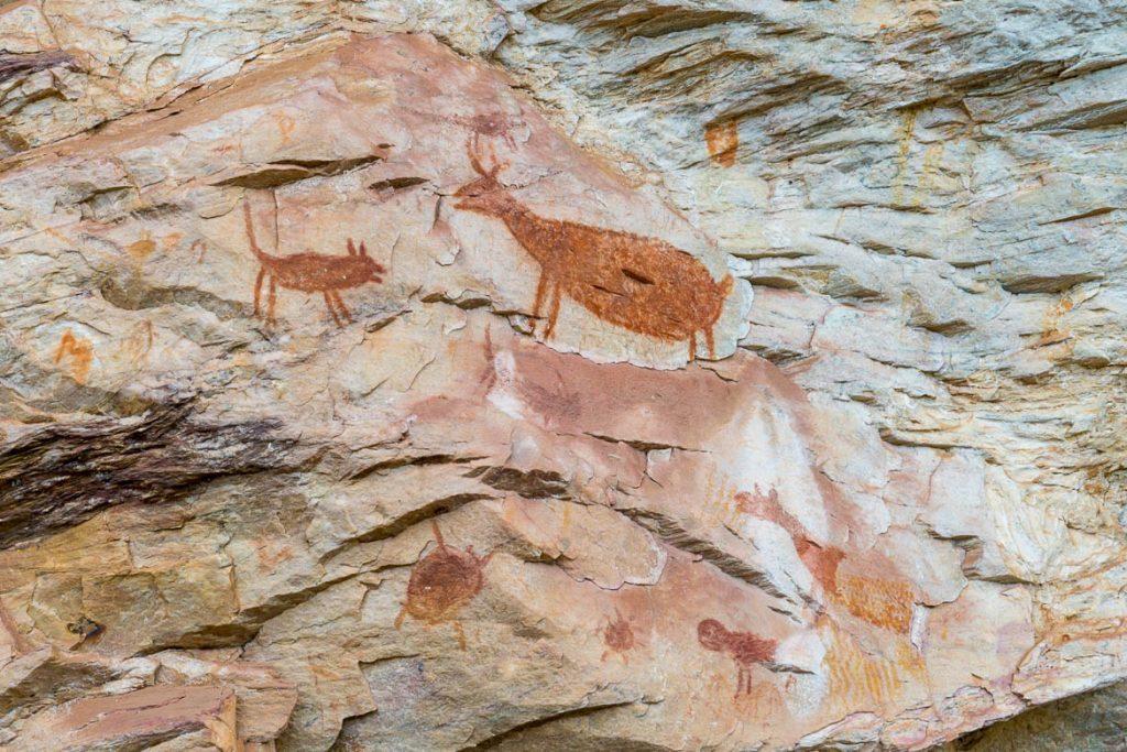 prehistoric painting in Cocais Minas Gerais Brazil