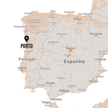 Porto Travel Guide Map