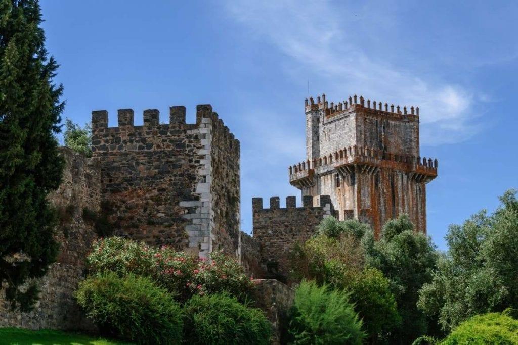 The tower of Beja Castle located in the city of Beja in Baixo Alentejo