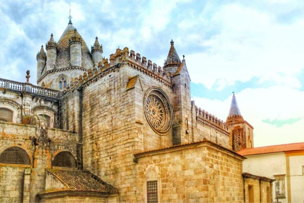 Sé Cathedral in the city of Évora located in the Central Alentejo Region and very popular among tourists