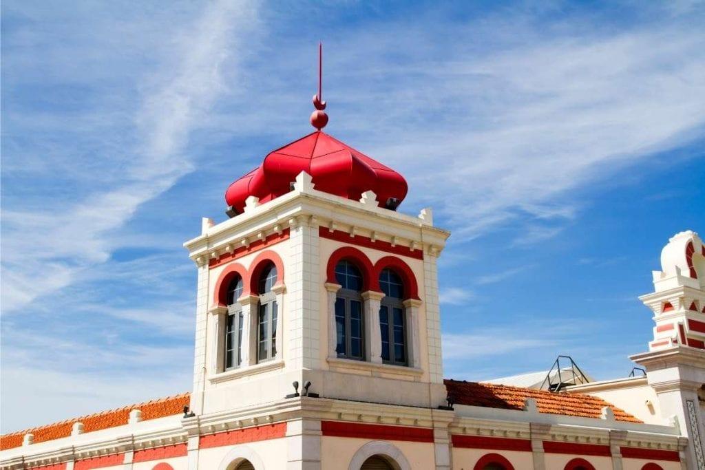 the external facade of municipal market in Loulé, Algarve