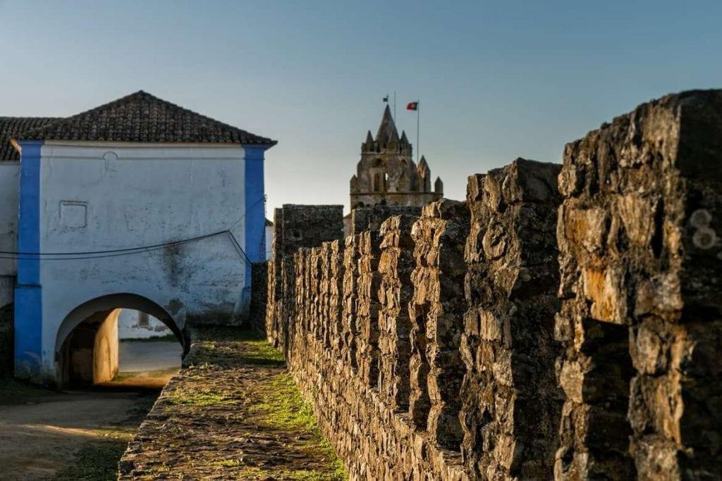 ancient medieval walls in Montemor-o-Novo located in the Central Alentejo Region
