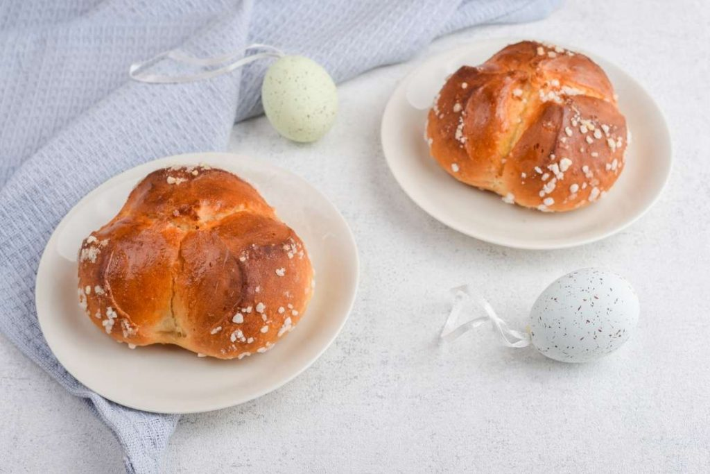sweet breads called pinca typical easter food in croatia and slovenia