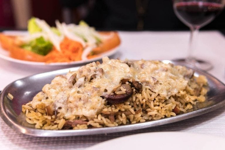 Arroz de pato is a typical dish from Braga in Portugal