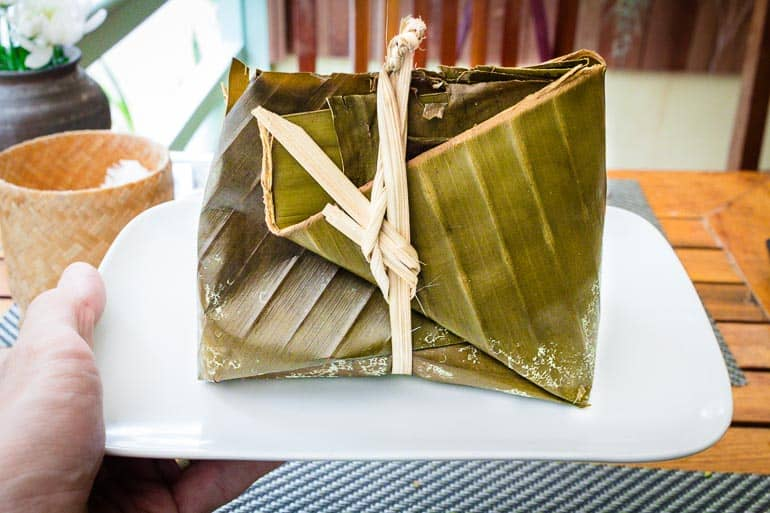 Mok Pa - traditional dish that uses banana leaf to wrap and steam fish