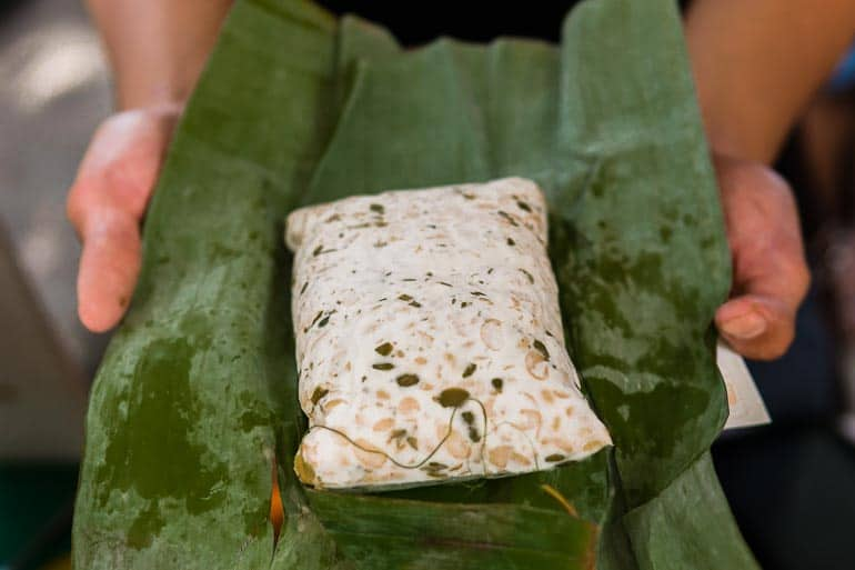 Banana leaf for tempe fermentation