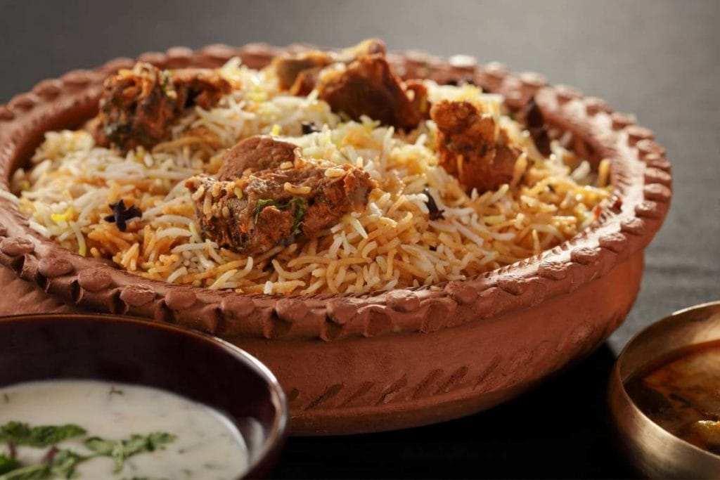 biryani rice with mutton, one of the most famous rice dishes in the world