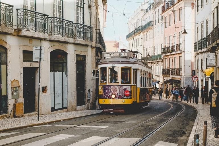 bondinho em Lisbon