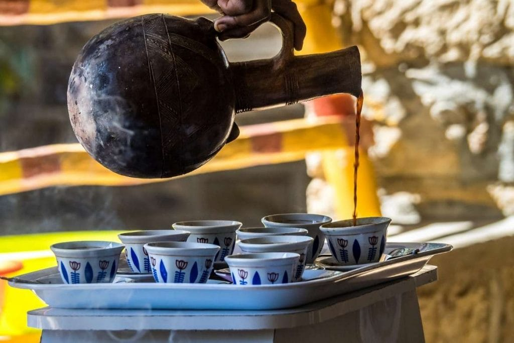 cerimonia do café na Etiópia, faz do país um grande destino para o turismo do café no mundo