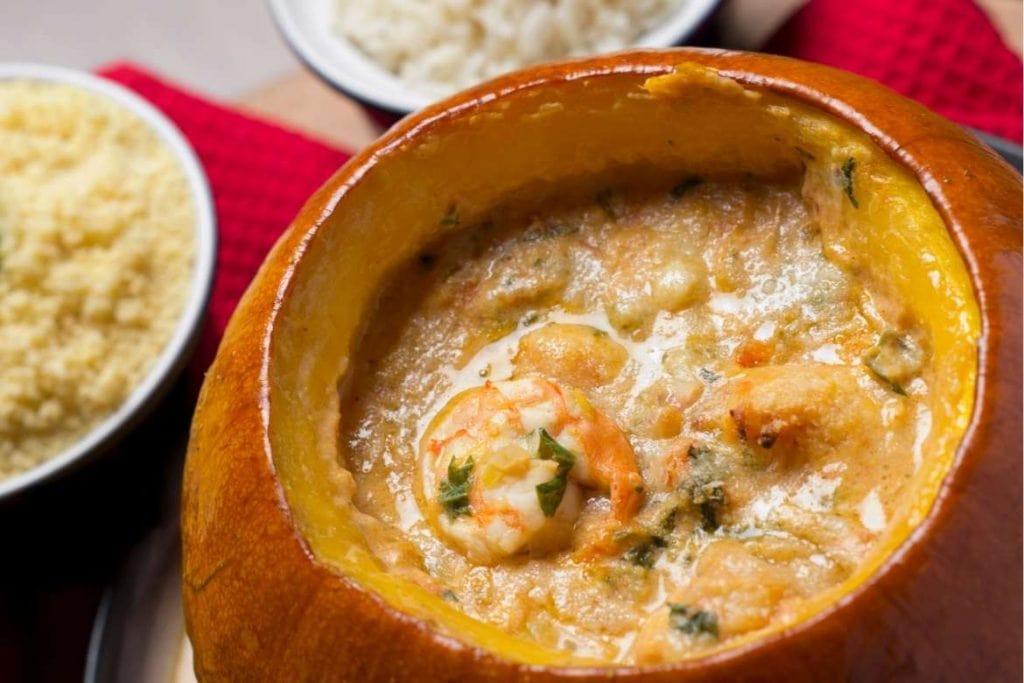 shrimp in pumpkin typical Brazilian food