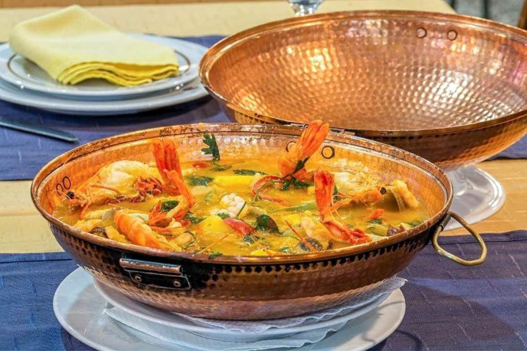 Cataplana de Mariscos a typical seafood dish from the Algarve in Portugal