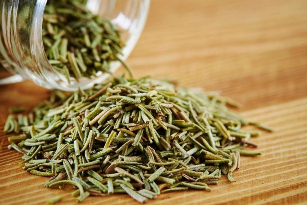 dried rosemary for making tea