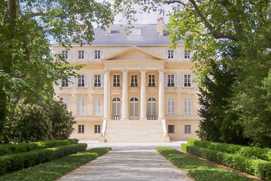 the facade of Chateau Margaux in Bordeaux France is one of the best wine destinations in the world