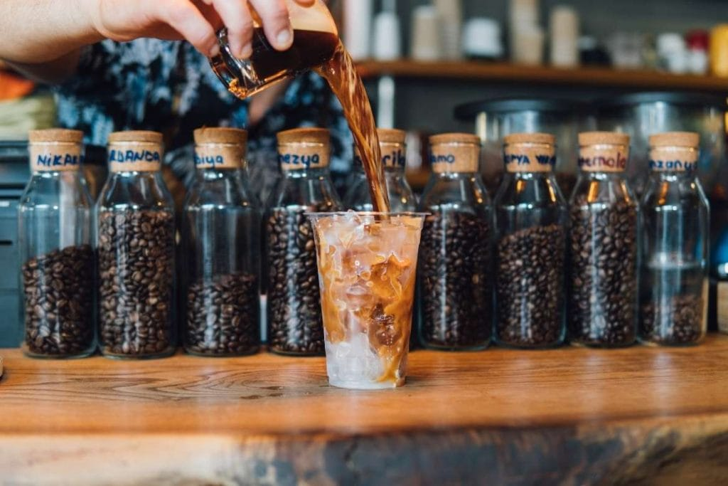 serving cold brew coffee in Taiwan, a very trendy coffee destination around the world with popular coffee experiences for tourists