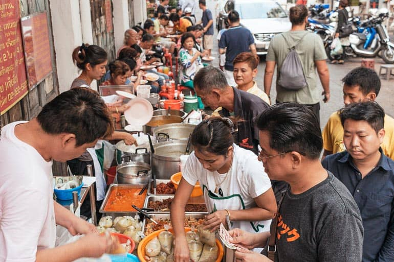 Famous street curry stall in Bangkok