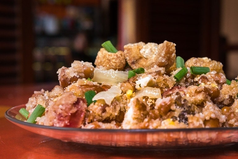 a dish with tropeiro beans from Minas Gerais