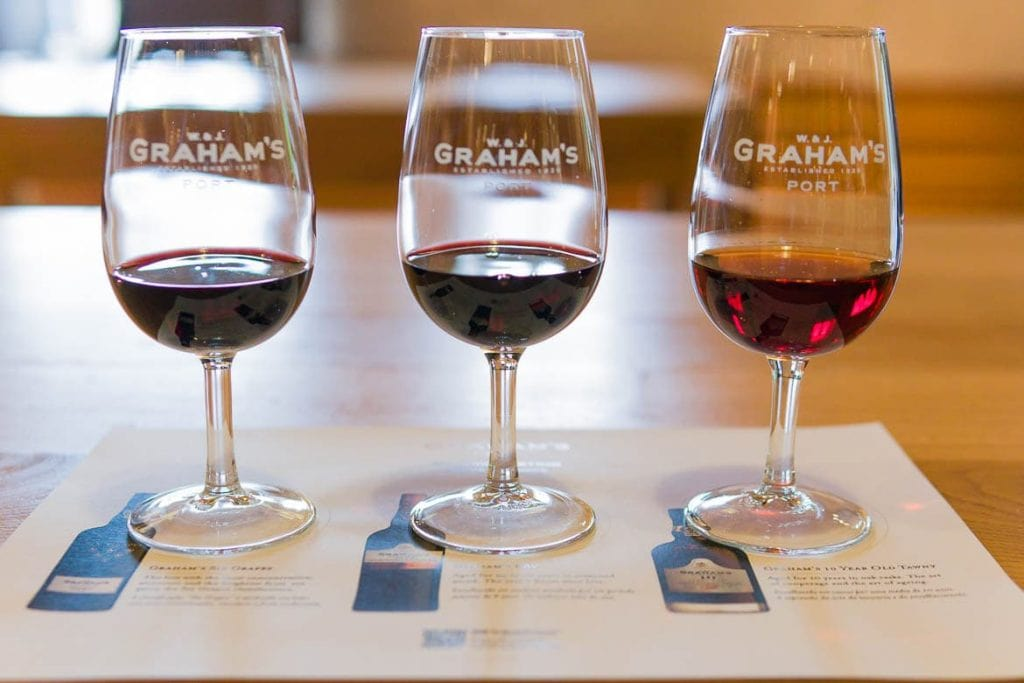 wine cups during a tasting session is a very popular activity of food tourism