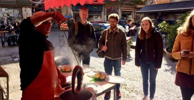 Tour de comida de rua de Palermo e mercado local