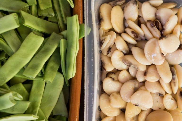 leguminosas para cozinhar a Paella Valenciana