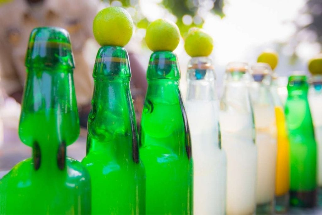 nimbu pani typical drink from India sold by street vendors