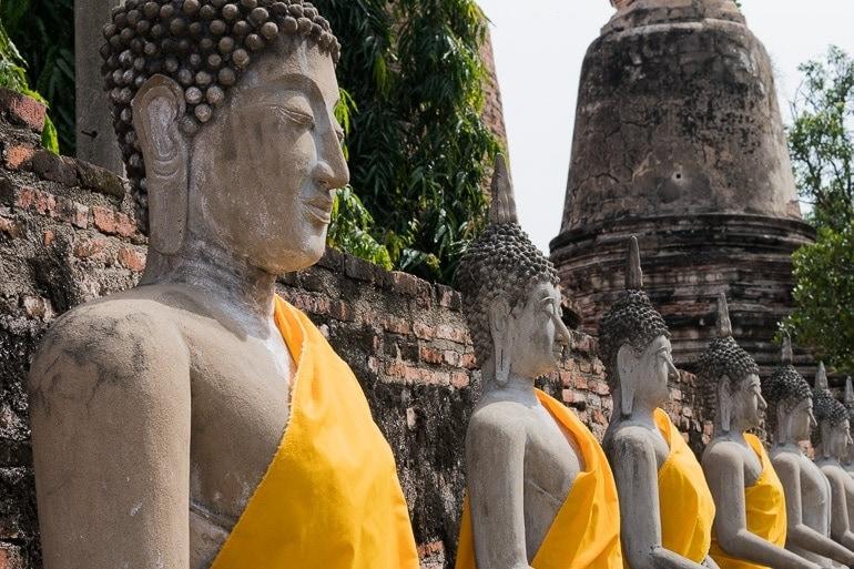 a cidade de Ayutthaya pode ser visitada de Bangkok e é uma ótima opção para quem busca o que fazer na região
