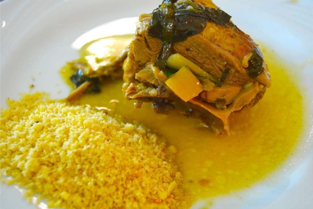 duck in tucupi sauce is a typical dish of North Brazil state of Pará