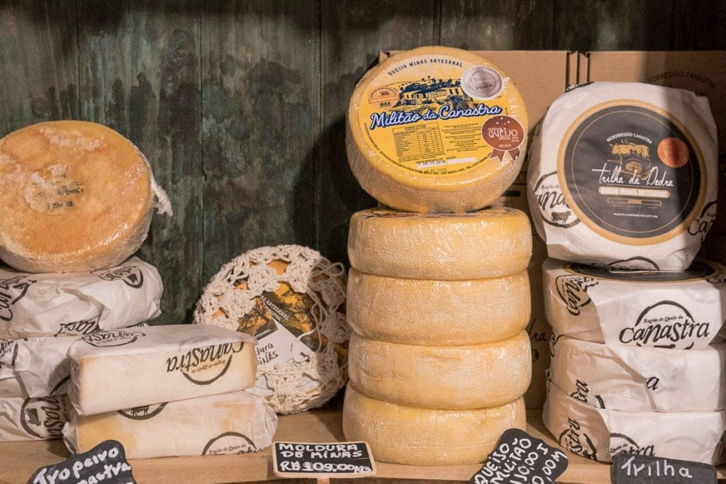 brazilian special cheeses from Minas Gerais in Brazil Canastra region