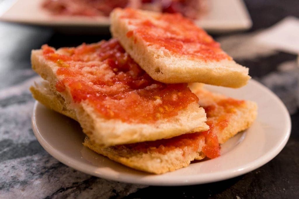 spanish bread with tomato is one of the most traditional spanish foods mainly in catalonia