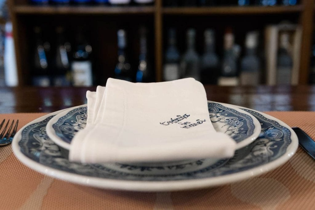 a plate in a tasquinha traditional Portuguese restaurant