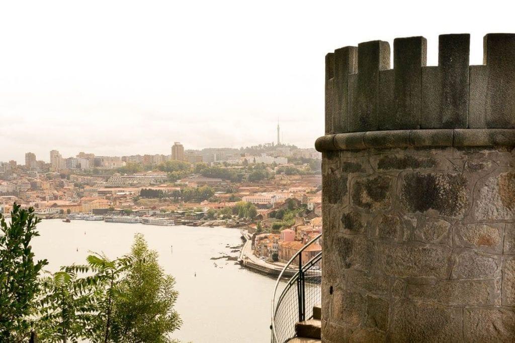 Torreão do Jardim do Palácio de Cristal em Porto