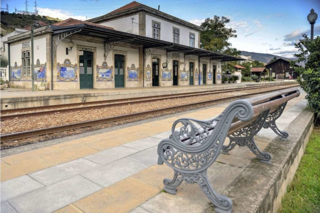 scenic train stop in Douro Valley region, stop during a wine tour in Douro