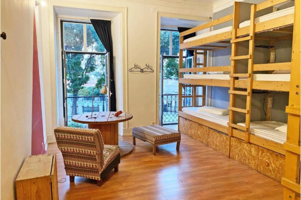 Photo of Lookout Lisbon! shared room with bunk beds and a small table