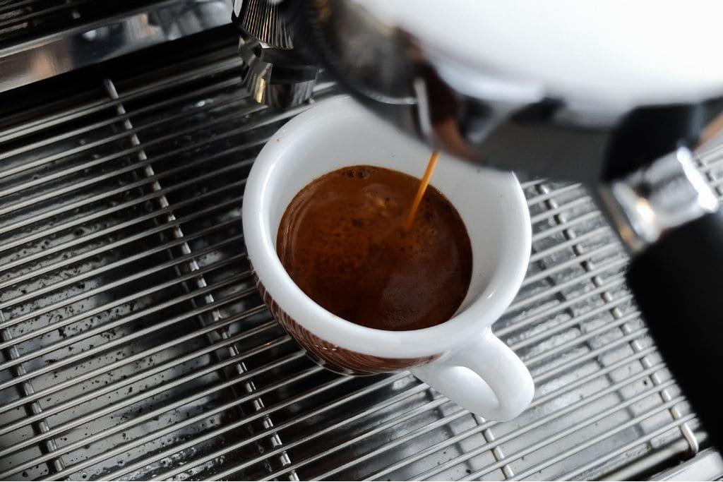 espresso in a ceramic cup