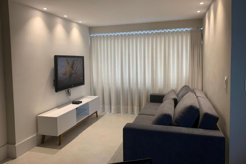 living room at holiday private apartment to rend in belo horizonte