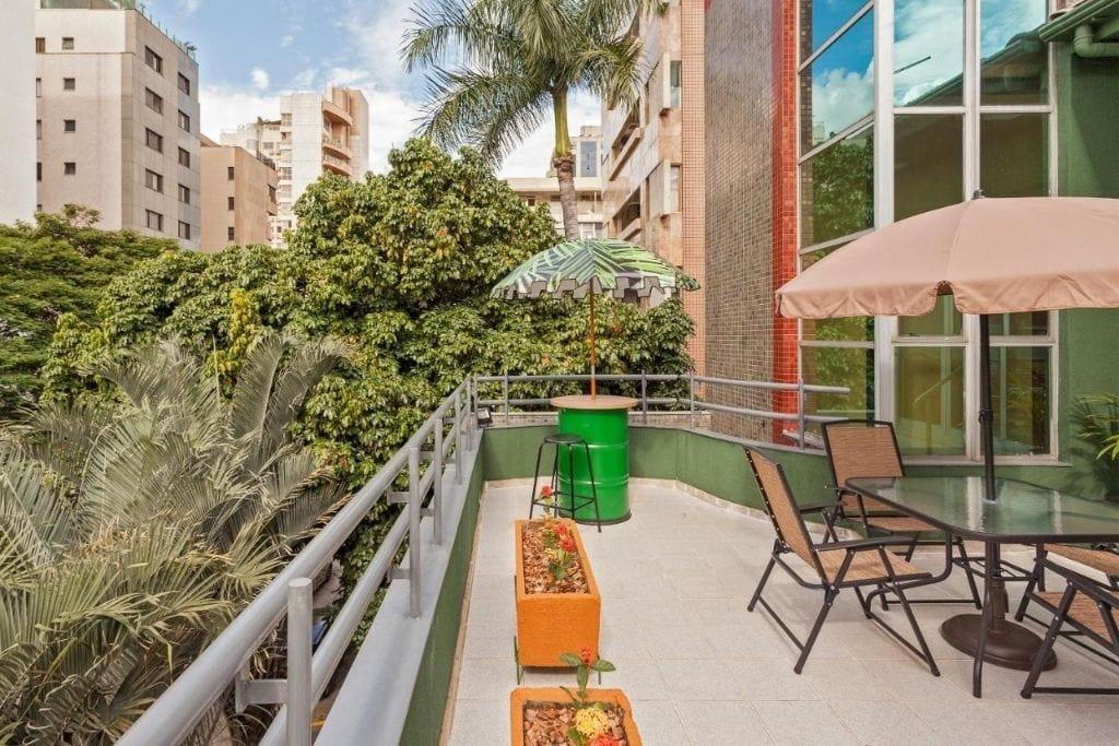 terrace at br hostel in belo horizonte
