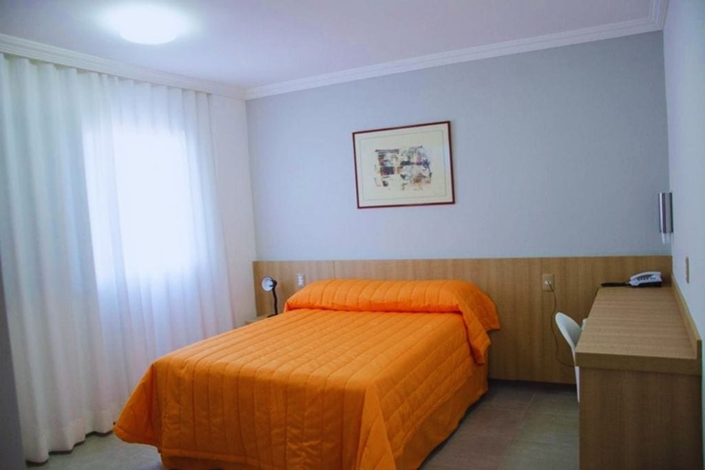 simple double room at stay frimas hotel in belo horizonte