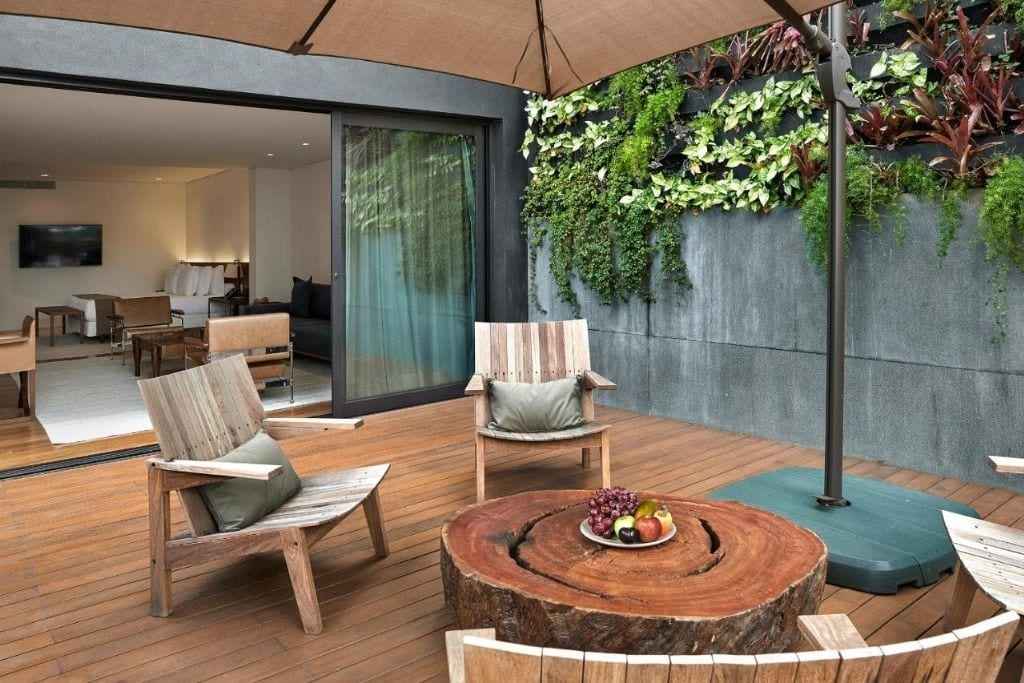 room terrace at fasano hotel, one of the best hotels where to stay in belo horizonte