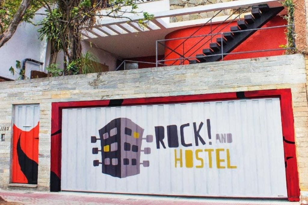 front door from rock! and hostel in belo horizonte