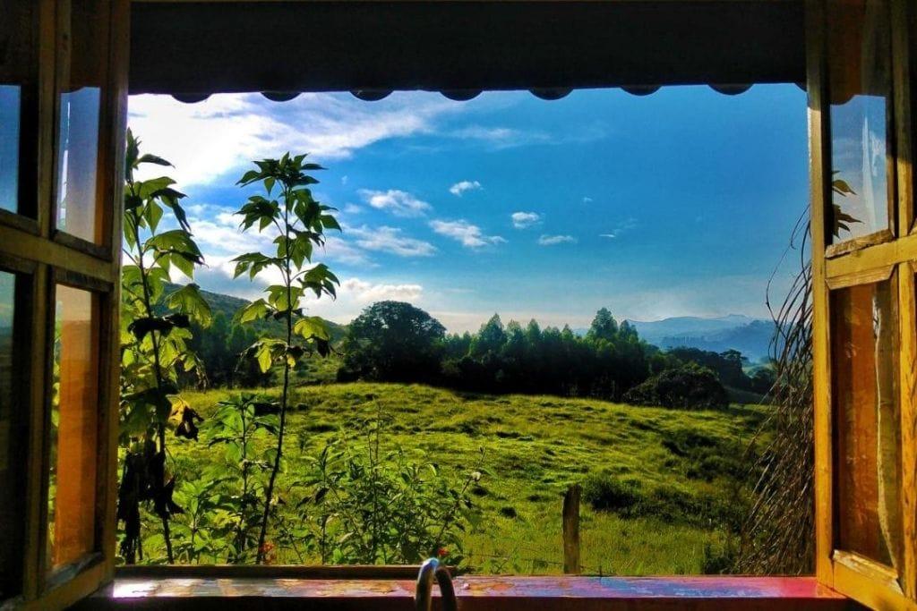 window view from hotel pousada serra da luz in minas gerais