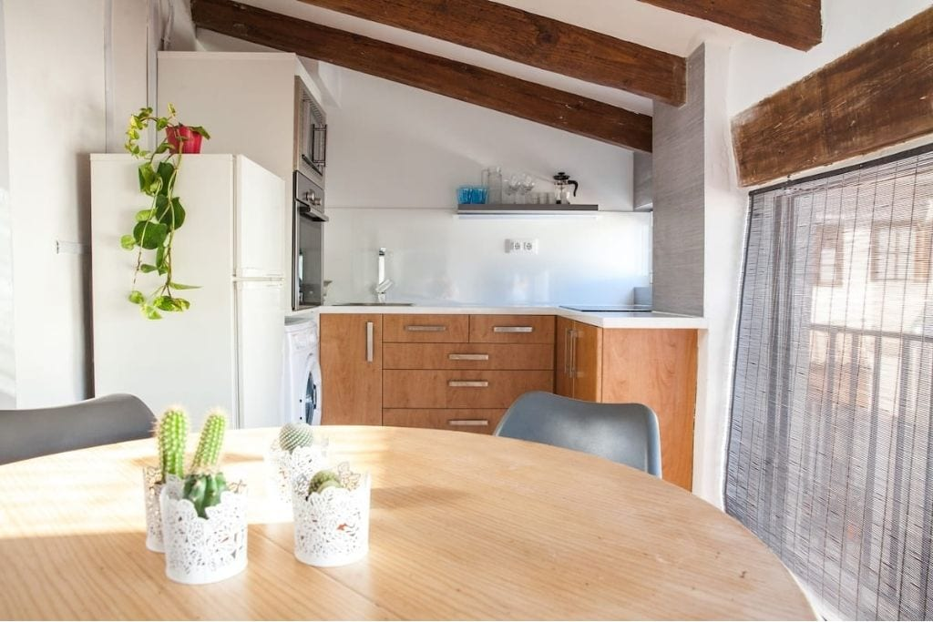 kitchenette at city garden private holiday apartment in valencia